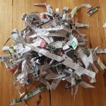 Shredded newspaper makes excellent worm farm bedding material