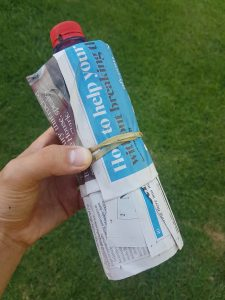 On hot days freeze a water bottle, wrap it in some newspaper and bury it deep in your worm farm.