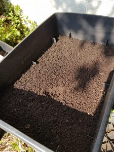 Worm castings produced by a Worm Cafe. The proof is in the pudding in our Worm Cafe review.