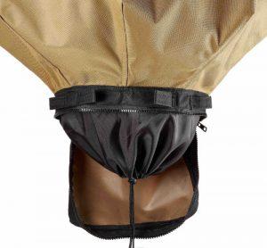 Urban Worm bag drawstring opening at the bottom